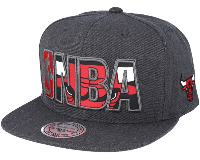 a87af452fe5c1 Chicago Bulls Insider Reflective Grey Snapback - Mitchell   Ness ...