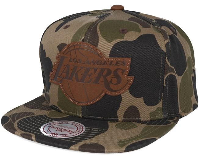 detailed look 5c3d3 941ee LA Lakers Lux Camo Strapback Adjustable - Mitchell   Ness