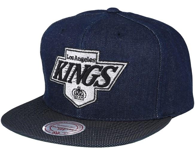 cheap for discount c72ff f3b71 Los Angeles Kings Raw Denim 3T PU Snapback - Mitchell   Ness