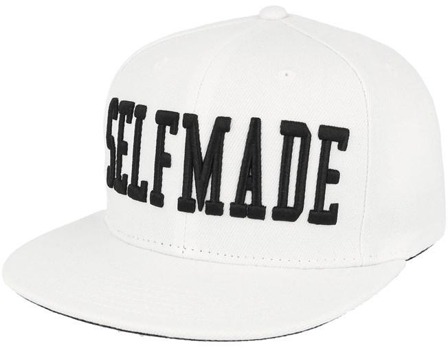 Selfmade White Black Snapback - Galagowear caps - Hatstoreworld.com 3323444804c