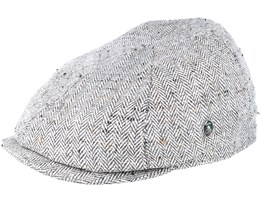 Sixpence Fishbone Grey Flat Cap - City Sport