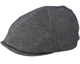 Sixpence Stripe Dark Grey Flat Cap - City Sport