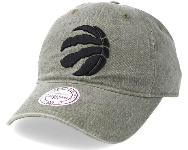 wholesale dealer 5a955 36f09 Toronto Raptors Blast Wash Slouch Strapback Olive Adjustable - Mitchell    Ness caps - Hatstoreworld.com