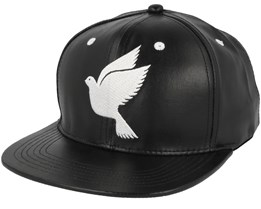 Save us Leather Black Snapback - Galagowear