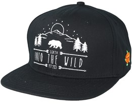 Into The Wild Black Snapback - Sqrtn