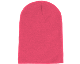 Long Beanie Fluorescent  Pink - Beanie Basic