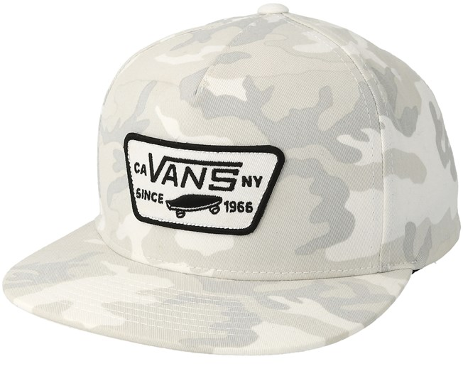 Full Patch Snow Camo Snapback - Vans caps - Hatstoreworld.com 2f87526c07e8