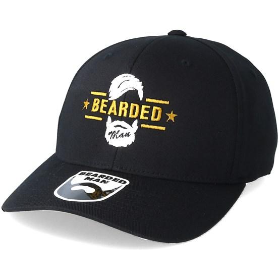 4a20efa28f9 Beard Logo Black Flexfit - Bearded Man caps - Bearded Man