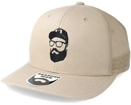 Cap Man Beige Trucker - Bearded Man