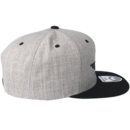 8799a30776b Beard Force Grey Black Snapback - Bearded Man caps - Hatstoreworld.com