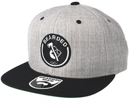 Axe Man Grey/Black Snapback - Bearded Man