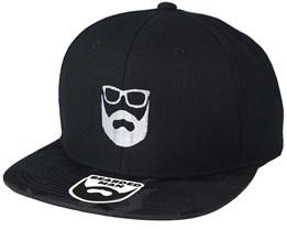 Logo Black Camo Snapback - Bearded Man