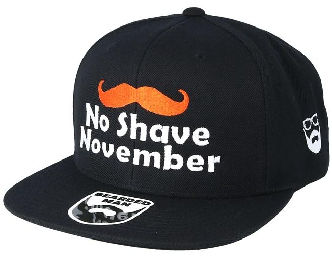 68ef162b7ef No Shave November Black Snapback - Bearded Man caps - Bearded Man