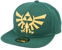 Zelda Twilight Princess Golden Triforce Logo Green Snapback - Difuzed