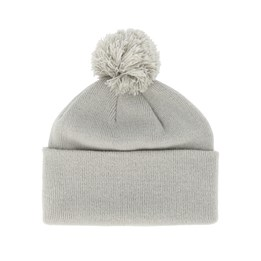 bda231528536 Beanie Basic Original Pom Pom Light Grey Beanie - Beanie Basic £17.99