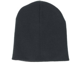 Knitted Short Black Beanie - Beanie Basic