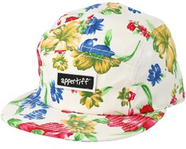 5 Panel Graphic White Snapback - Appertiff