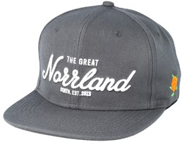 Great Norrland Charcoal Snapback - Sqrtn