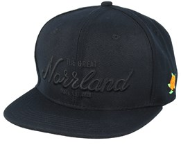 Great Norrland All Black Snapback - Sqrtn