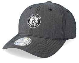 Brooklyn Nets Heringbone Grey 110 Adjustable - Mitchell & Ness