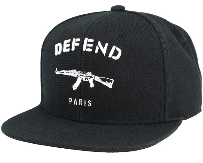 ce54403b1c271 Paris Black Snapback - Defend Paris caps
