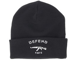 Paris Black Beanie - Defend Paris