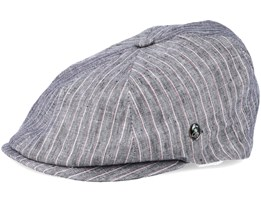 Sixpence Stripe Grey Flat Cap - City Sport
