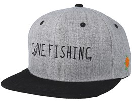 Gone Fishing Grey/Black Snapback - Sqrtn