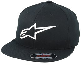 Ageless Flatbill 1 Black/White Fitted - Alpinestars