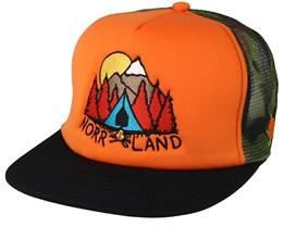Campsite Orange Trucker - Sqrtn