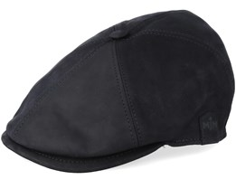 Rebel El Nappa Wax Black Flat Cap - MJM Hats