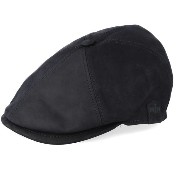 Keps Rebel El Nappa Wax Black Flat Cap - MJM Hats - Svart Öronlappar
