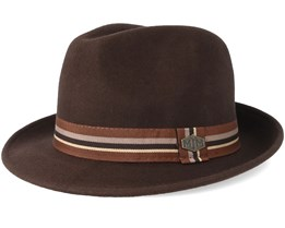 Oscar 100% Wool Brown Trilby - MJM Hats