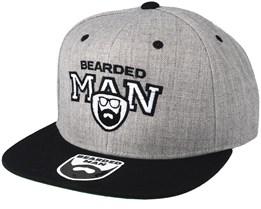 Team BM Grey/Black Snapback - Bearded Man