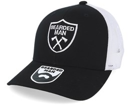 Axe Crest Black/White Trucker - Bearded Man