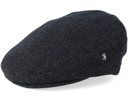 Fishbone Dark Grey/Black Flat Cap - City Sport