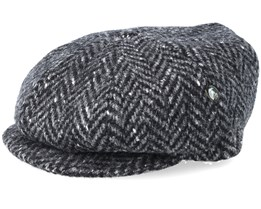 Sixpence Fishbone Grey/Black Flat Cap - City Sport
