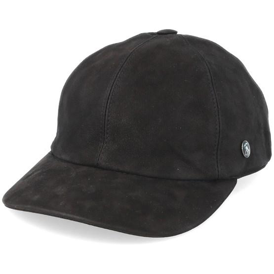 Keps Dad Cap Leather Black Adjustable - City Sport - Brun Reglerbar