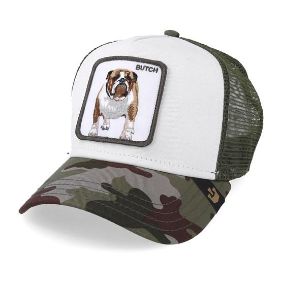 7e2a03164be2c Butch Baseball Trucker - White Olive Camo Trucker - Goorin Bros. cap -  Hatstore.co.in