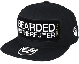 Bearded MF Frame Black Snapback - Bearded Man