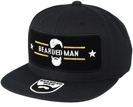 Beard Logo Frame Black Snapback - Bearded Man