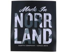 Sticker Made in 9x10 Grey Black/Camo - Sqrtn