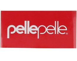 Sticker Logo White 12x6 CM Red/White - Pelle Pelle