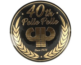Sticker Logo 40th 10 CM Black/Gold - Pelle Pelle