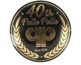 Sticker Logo 40th 10 CM Black/Gold - Pelle Pelle