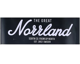 Sticker Logo Norrland 16x5,5 Black/White - Sqrtn