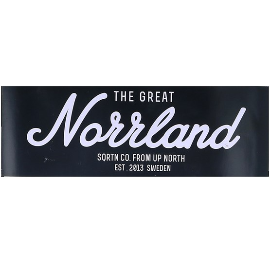 Accessoarer Sticker Logo Norrland 16x5,5 Black/White - Sqrtn - Svart