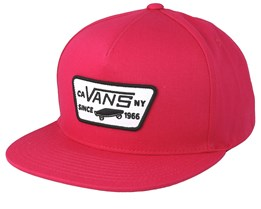 Full Patch Jazzy Dark Pink Snapback - Vans