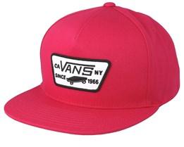 Full Patch Jazzy Dark Pink Snapback - Vans