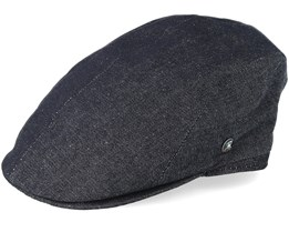 Sixpence Black Flat Cap - City Sport